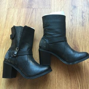 Shoes - Black Studded Boots
